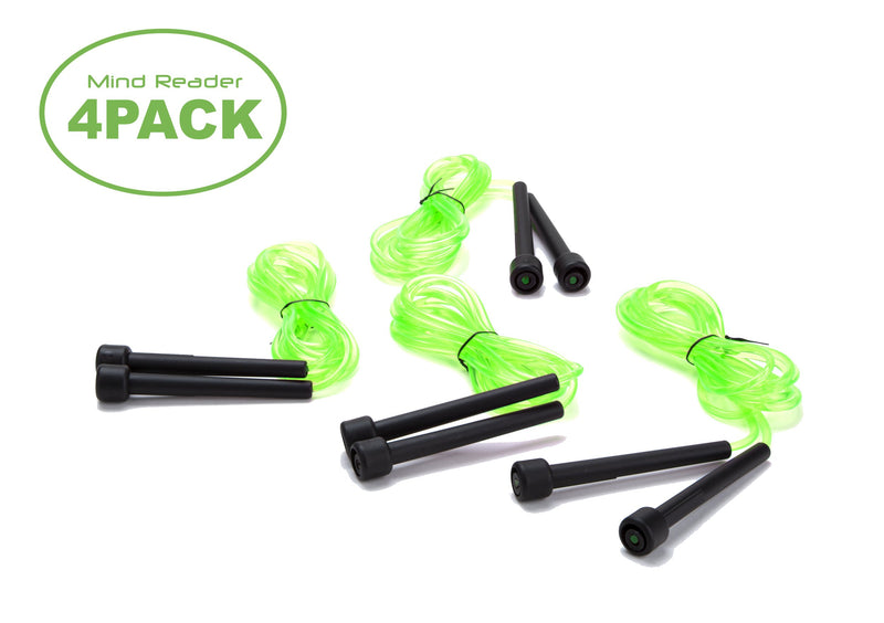 "Adjustable Jump Rope For Aerobic Exercise with 4.75"" Handle, 4-Pack"