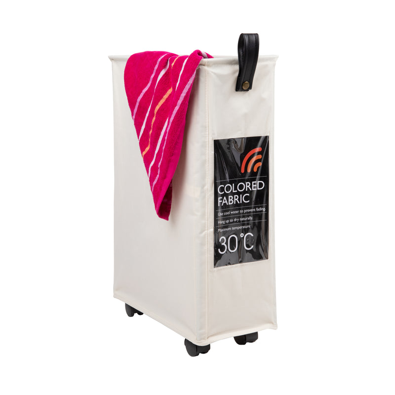 Slim Rolling Laundry Hamper with Wheels