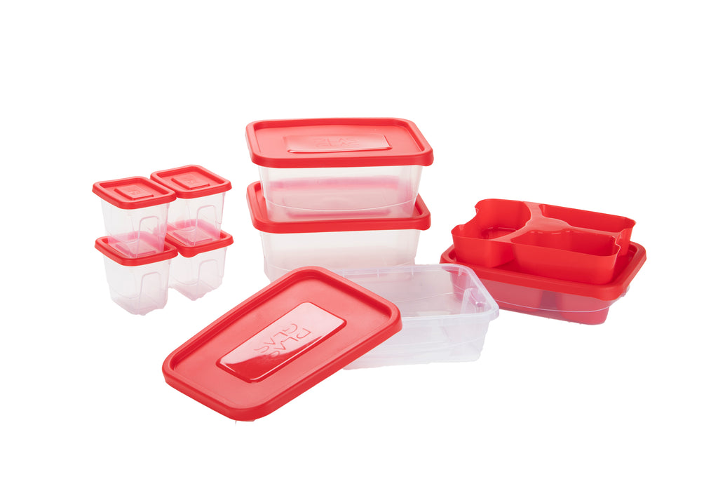 Mind Reader Mind Reader Meal Prep Food Storage Plastic Containers with Lids, Removable Compartment Sectionals, Multiple Sizes