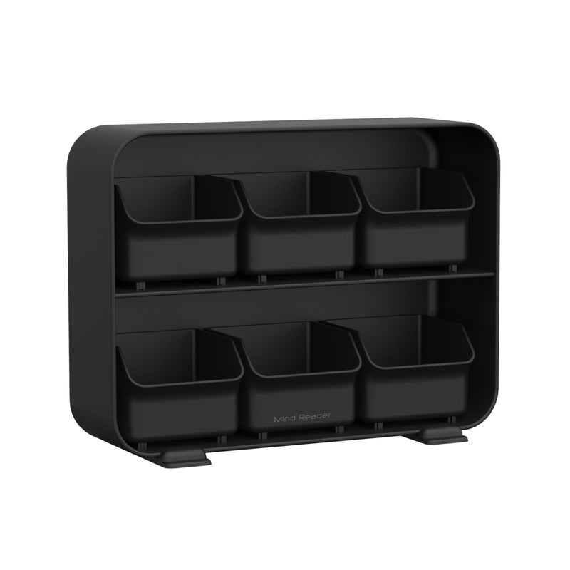 6 Drawer Tea Bag Holder, Black