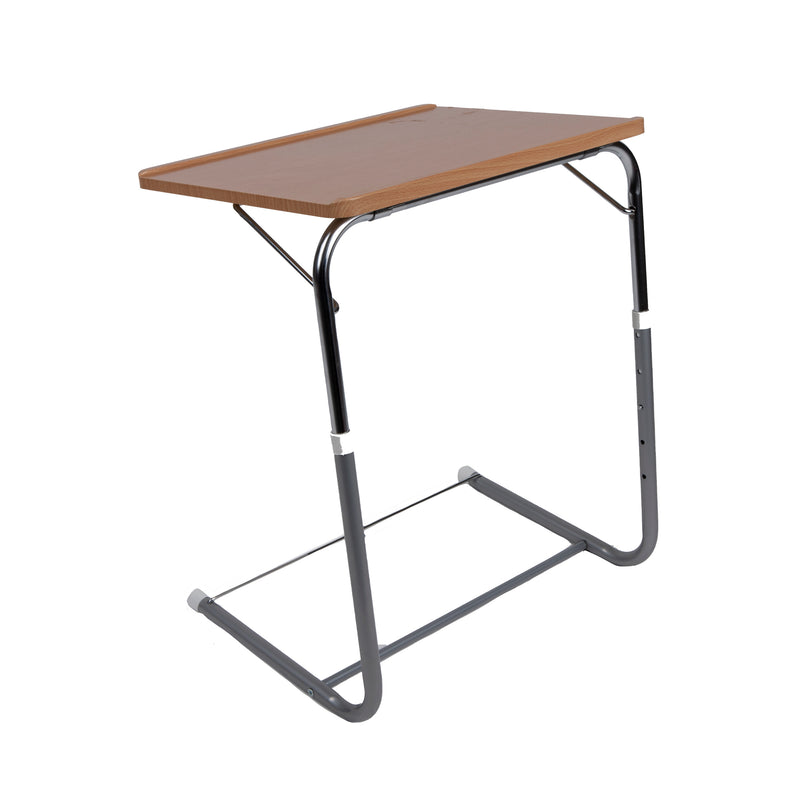 "Folding Laptop TV Table Tray with 5 Heights and 3 Angle Adjustments, 20""-29"" Height, Original TV Lap Top Tray, Brown"