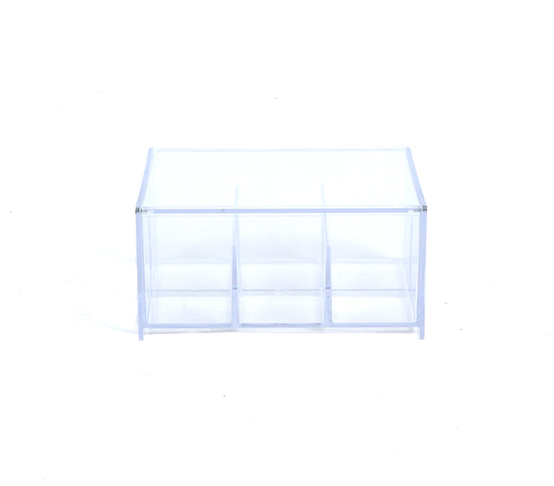 Clear Acrylic Tea Bag Storage & Organizer 6 Compartment Tea Bag Holder with Lid, Pantry Organizer For Kitchen