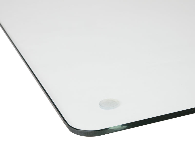 Tempered Glass Desk Pad, 19 x 24 in. Clear