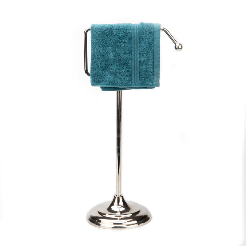 Freestanding Decorative Towel Stand, Stainless Steel, Silver