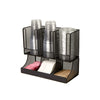 6 Compartment Upright Coffee Breakroom Condiment and Cup Storage Organizer