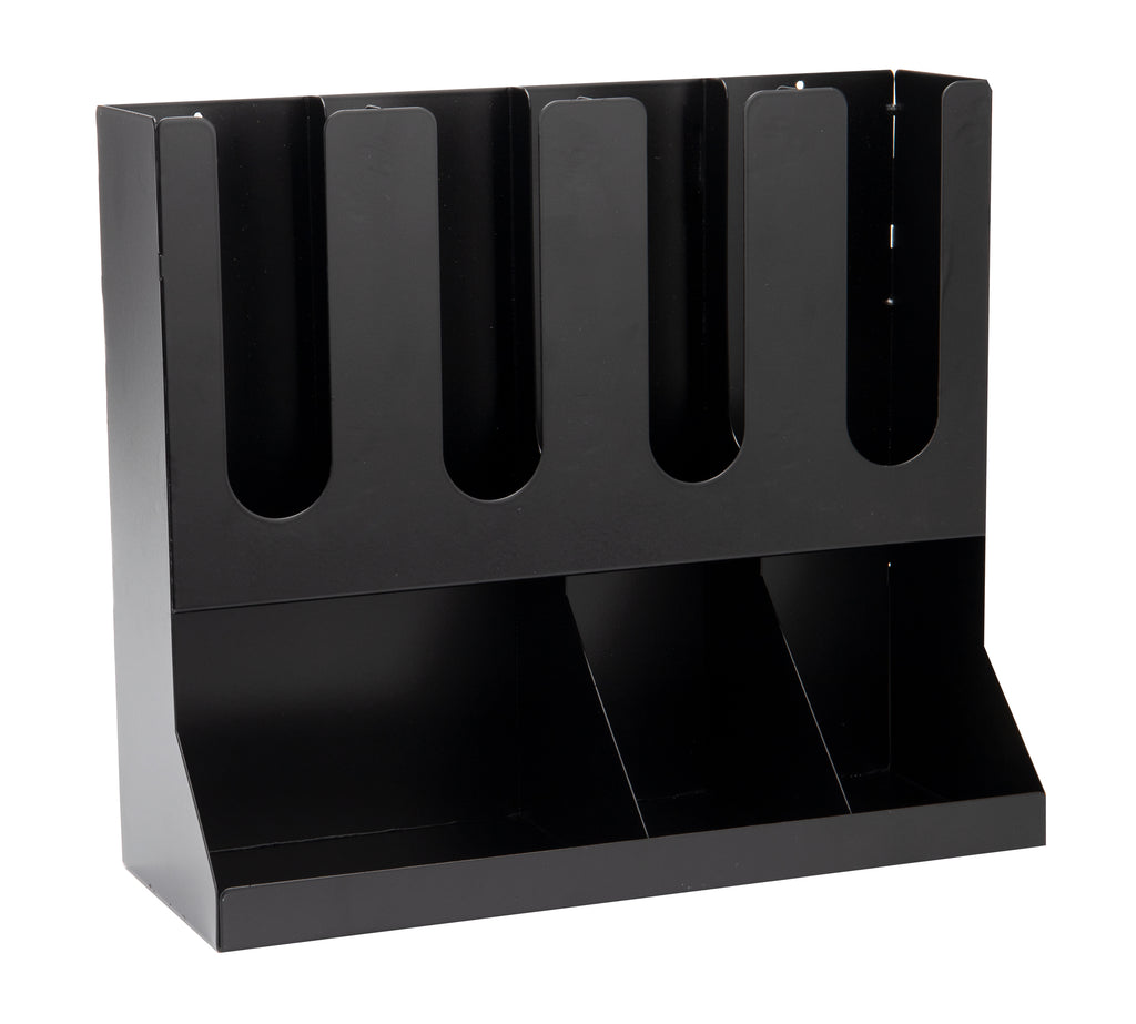 7-Compartment Condiment Station with Stackable Cup Storage