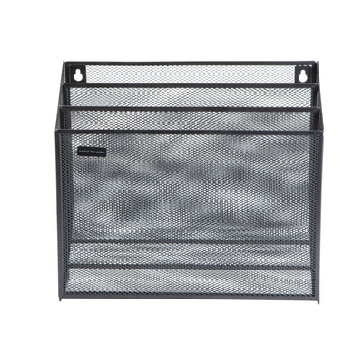 Mind Reader Mesh Wall File Holder 3 Tier Vertical Mount / Hanging Organizer Office Wall Folder Organization