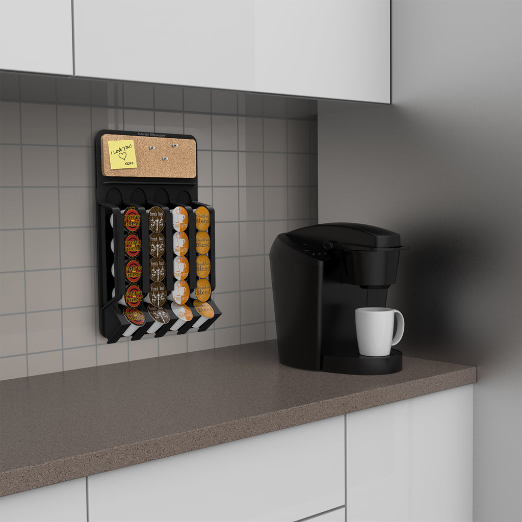 Wall-Mount K-Cup Single Serve Coffee Pod Dispenser