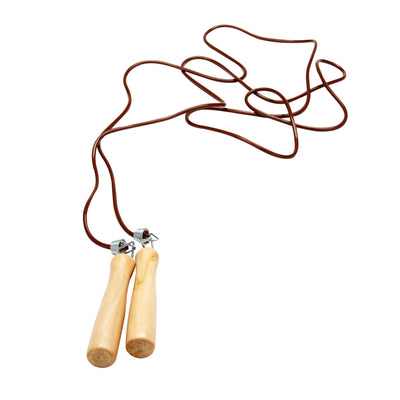 Mind Reader Spring Loaded Jump Rope with Wooden Handle