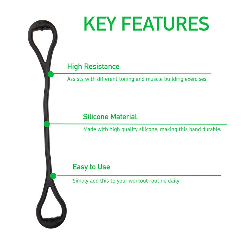 Mind Reader Y Shape Chest Expander, Rubber Resistance Band, Exercise Stretching Strap