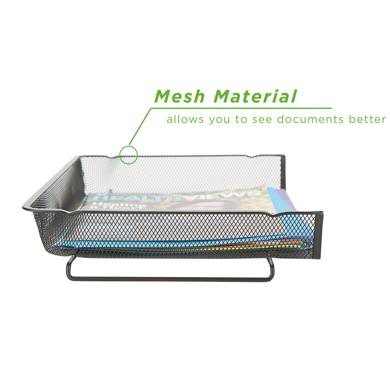 Stackable Mesh Document Tray, 2 or 4 Piece