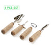 Rope Bar Utensil Set, 4 Piece Bar Tool Set, Bottle Opener, Corkscrew, Ice Scoop, Knife, Roped Handles, Bartending, Home, Bar - Silver