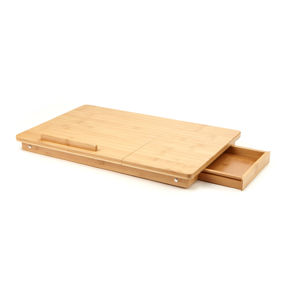 Bamboo Laptop Bed Tray with Tilt Function, Multiple Colors