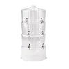 Mind Reader 3 Tier Stackable Drink Dispenser with 6 Compartment, Clear