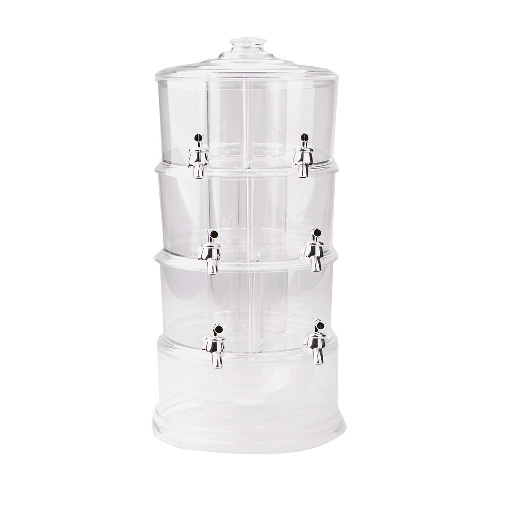Mind Reader 3 Tier Stackable Drink Dispenser with 6 Compartments