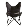 Mind Reader Butterfly Chair, Portable Folding Lounge Chair, Black