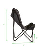 Mind Reader Butterfly Chair, Portable Folding Lounge Chair