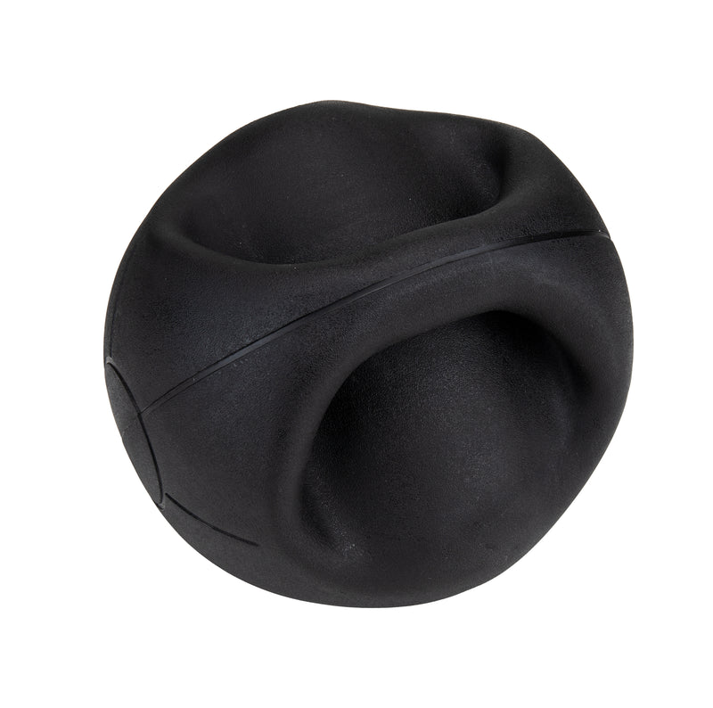 Medicine Ball with Handles, Strength Training Ball, Home Fitness Core Workout Ball, Rubber, Black, 7 kg, 15.4 lb.