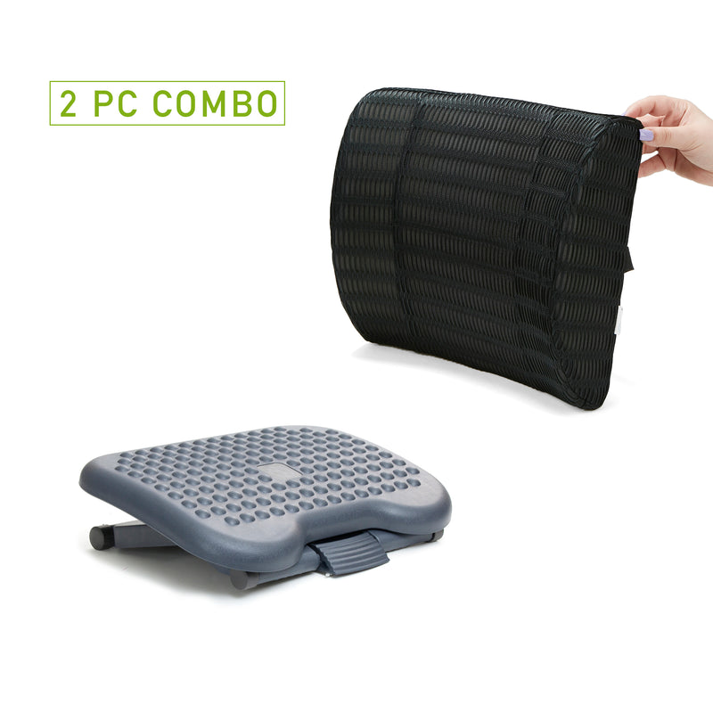 Ergonomic Foot Rest and Lumbar Support Cushion