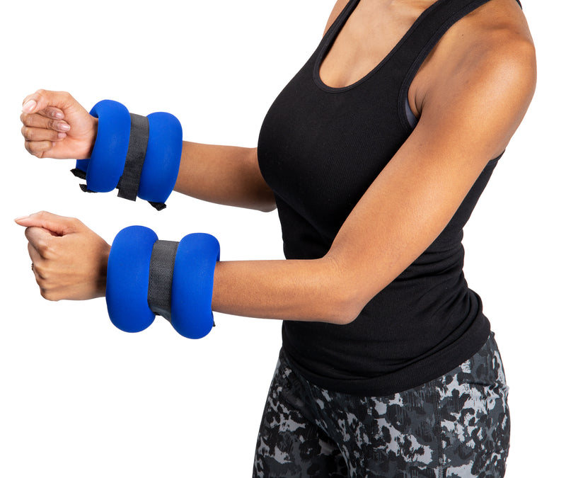 Neoprene Adjustable Resistance Weights for Wrists or Ankles, Set of 2