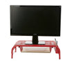 Metal Mesh Monitor Stand and Desk Organizer with Drawer, Desktop Monitor Stand Organizer, Red
