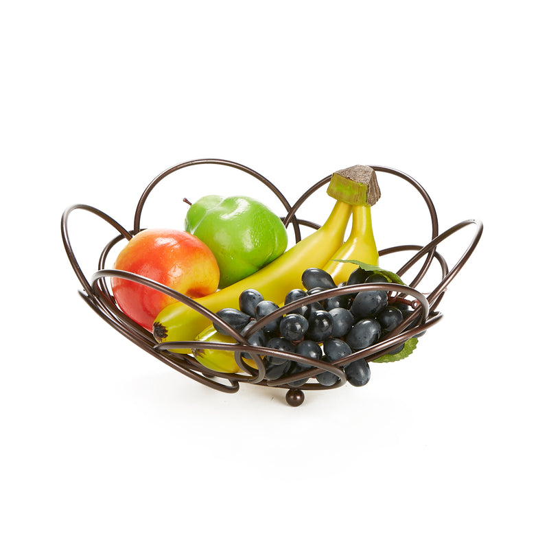 Mind Reader Fruit Bowl Modern Stainless Steel Fruit and Vegetable Basket Bowl, Fruit Display, Decorative Fruit Bowl, Fruit & Vegetables Storage Basket, Kitchen, Countertop