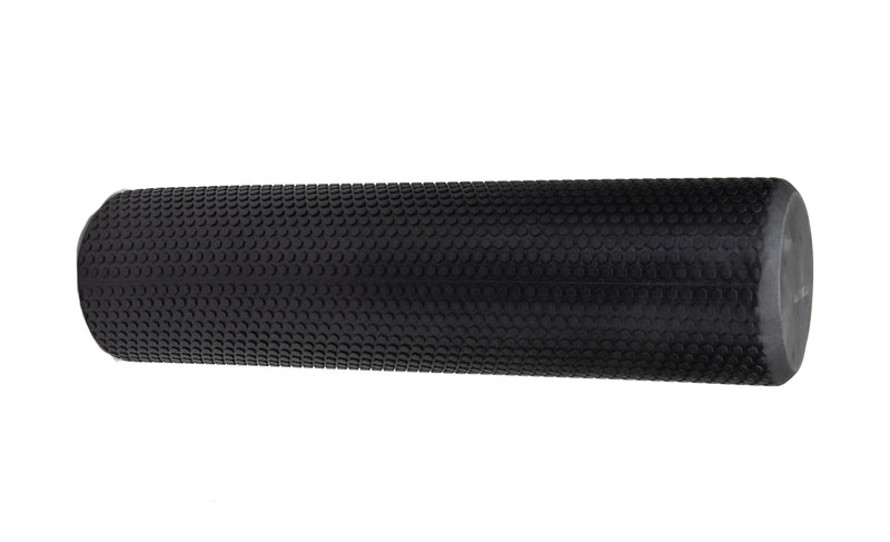 High-Density Round Foam Roller, Muscle Roller, Massage, 24 inches, Black