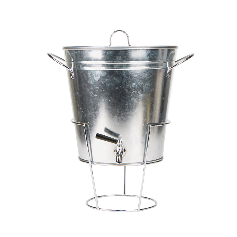 3 Gallon Cold Beverage Dispenser, Galvanized Metal
