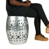 Mind Reader Decorative Accent Stool, End Table, Indoor/Outdoor Use