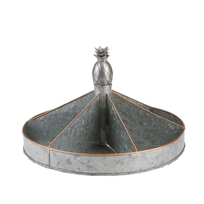 Galvanized Lazy Susan, Turntable, Rotating Organizer