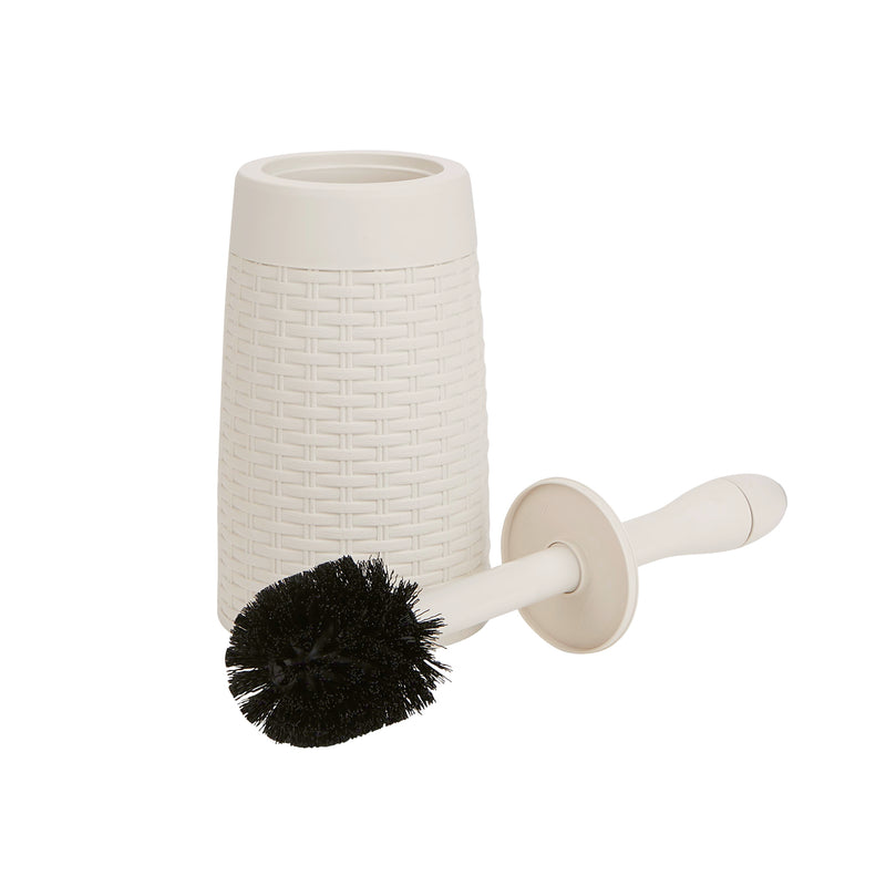 Mind Reader Toilet Brush with Holder, Free-Standing Toilet Brush Bowl Cleaner and Scrubber Wand with Caddy for Bathroom