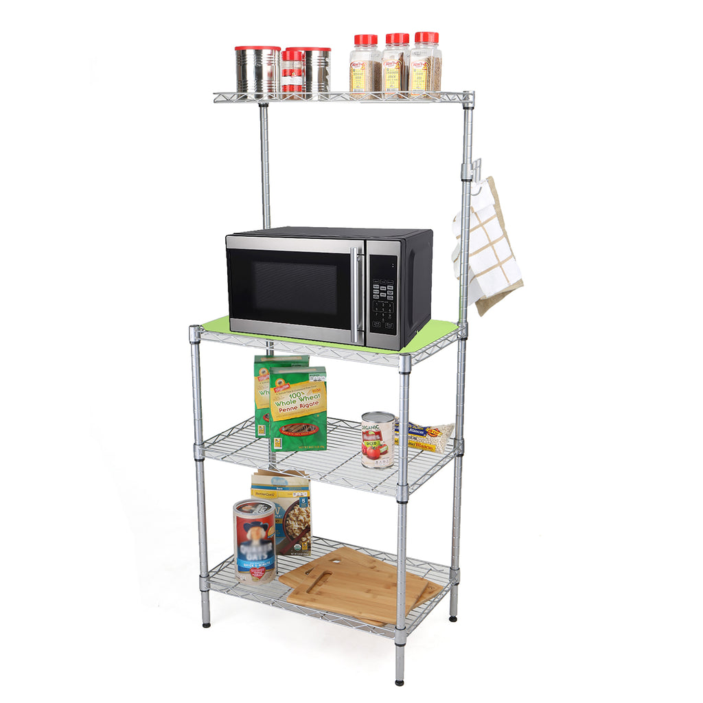 3 Tier Microwave Shelf Counter Unit with Hooks