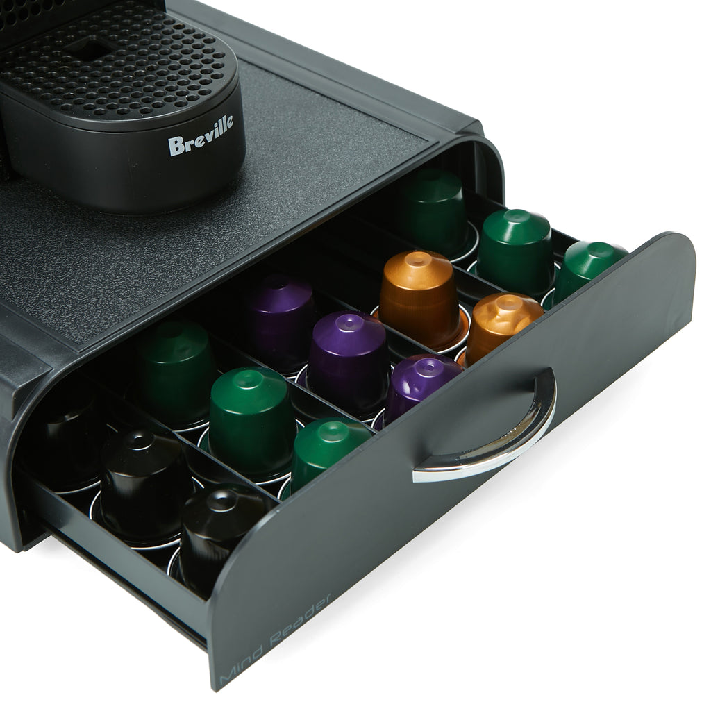 Mind Reader 50 Capacity Nespresso Capsule, 24 Capacity Vertuoline Coffee Pod Storage Drawer