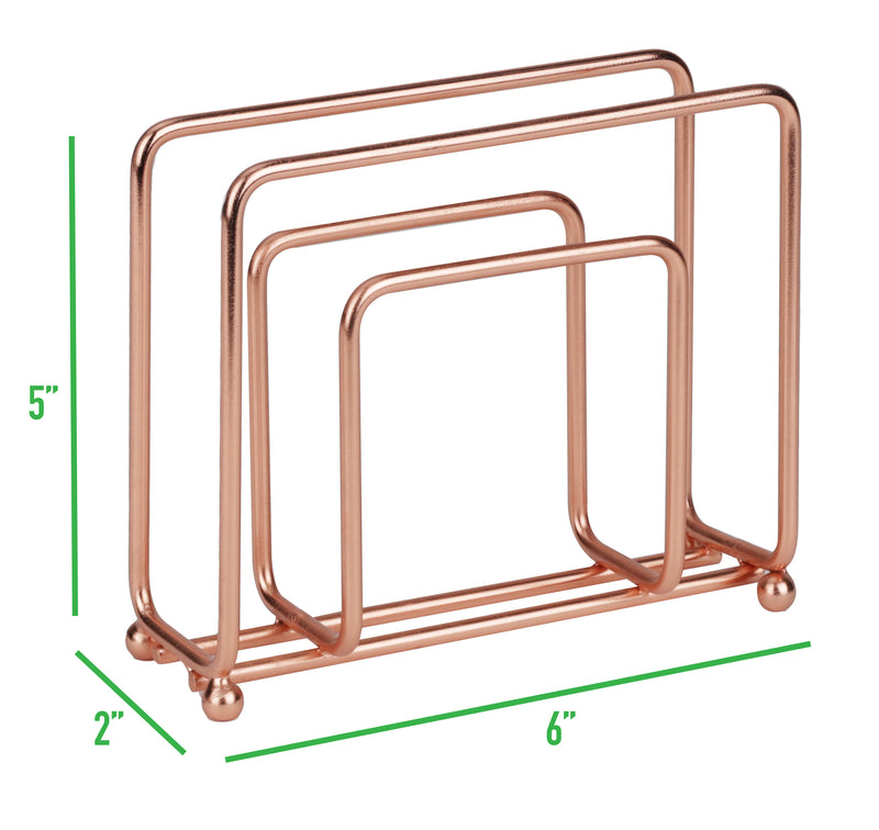 Wire Napkin Holder, Free-Standing, Stainless Steel, Metallic Gold