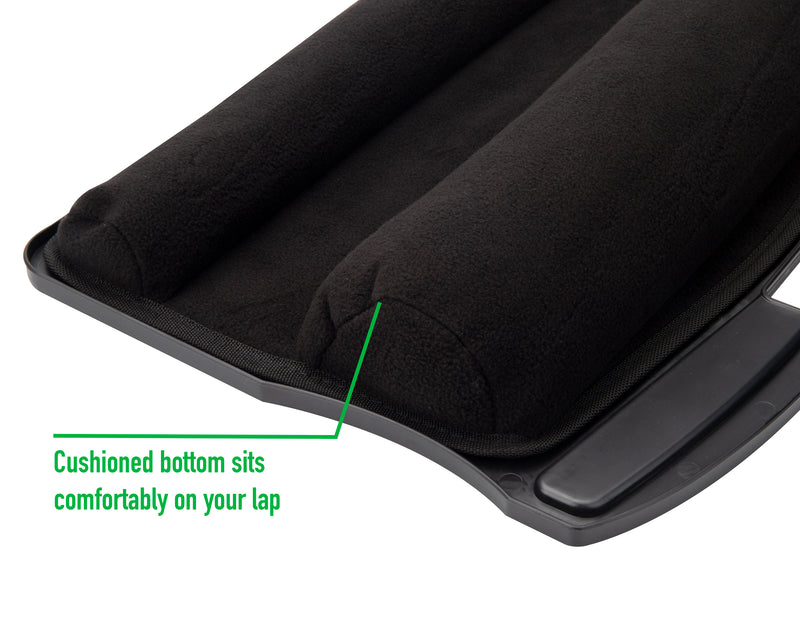 Multi-Purpose Lap Desk with Handle and Dual-Bolster Ergonomic Cushioning