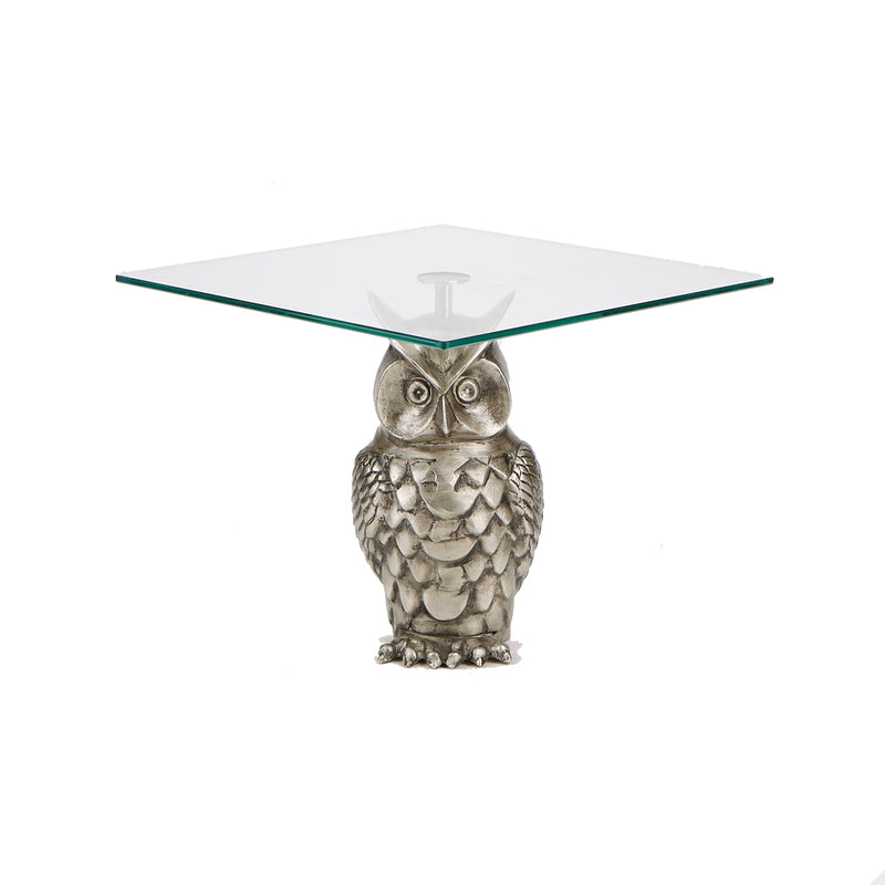 Mind Reader Owl Cake Stand, Cake Display, Cupcake Stand, Dessert Display, Silver