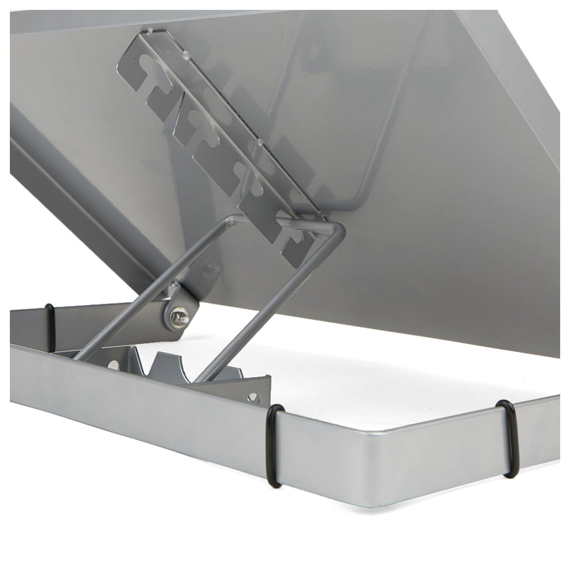 Metal Resting Document Holder Easel, Silver