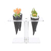 Acrylic Food Cone Display Holder, Ice Cream Cone Holder, 4-Slot Cone Holder, Sushi Hand Roll Display Stand, Perfect for Kitchen, Restaurants, Catering Events, Buffets, Clear