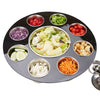 9-Compartment Salad Serving Tray & Condiment Caddy