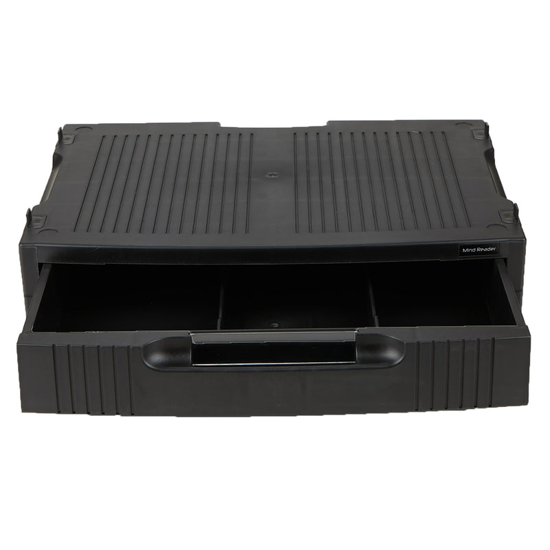 Monitor Stand with Storage Drawer, Black