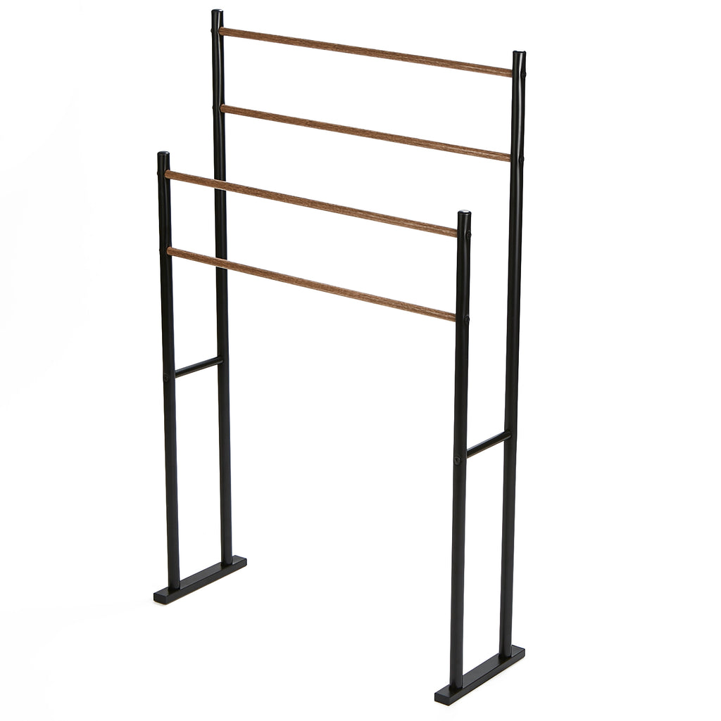 Tiered Towel Rack, Towel Bar Stand Alone Bathroom Rack, Drying Stand, Towel Valet Holder, Metal