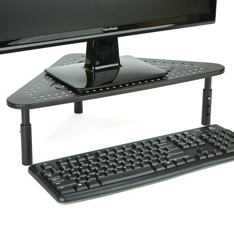 Monitor Stand Riser, Metal Triangle Adjustable, Ventilated Metal for Computer, Laptop, Monitor, Black