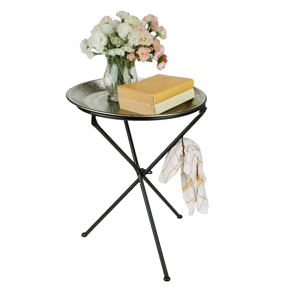 Tunisian Table, Elegant Décor, Detachable Tray Table
