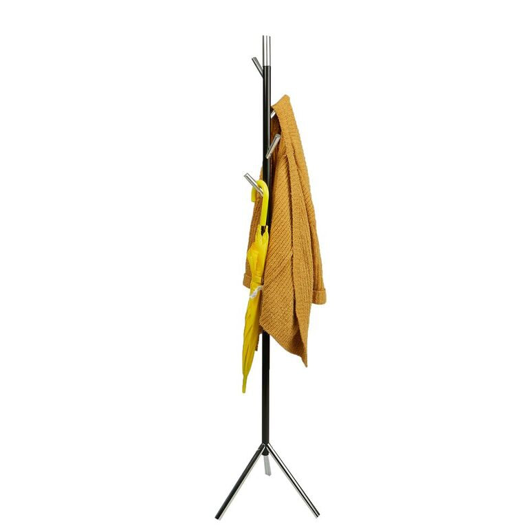 Mind Reader Free Standing Jacket, Hat, Coat Rack Hanger Umbrella Holder with 4 Hooks