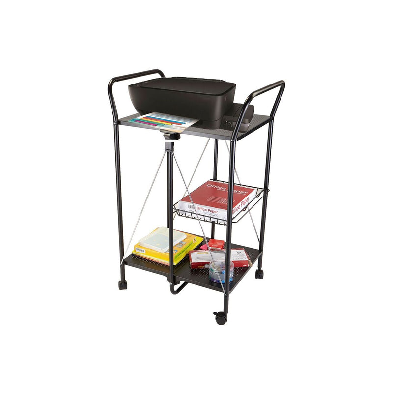 Mind Reader 2 Tier Metal Foldable All-Purpose Utility Cart