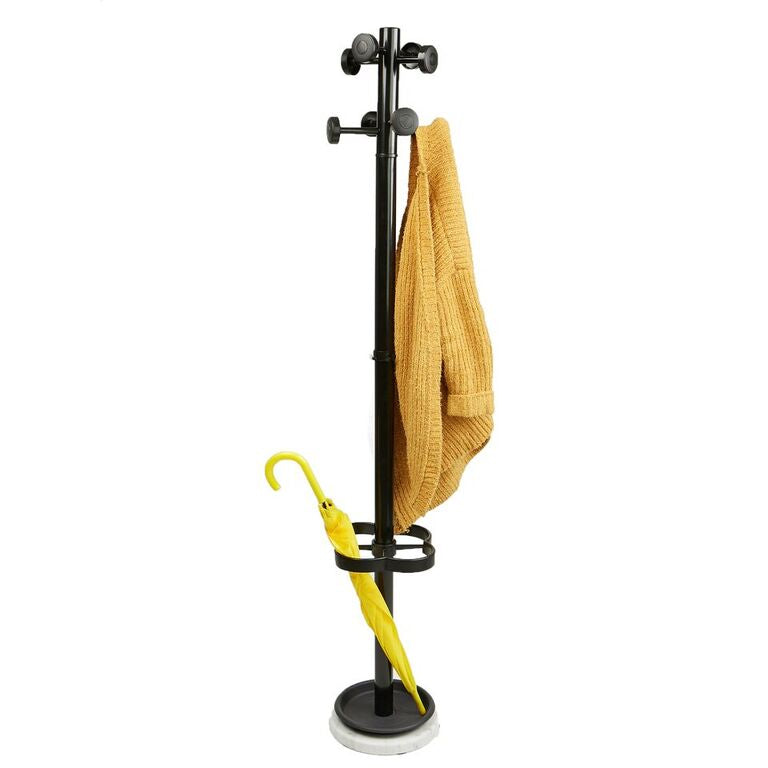 Mind Reader Freestanding Jacket, Hat, Coat Rack Hanger Umbrella Holder with 8 Hooks