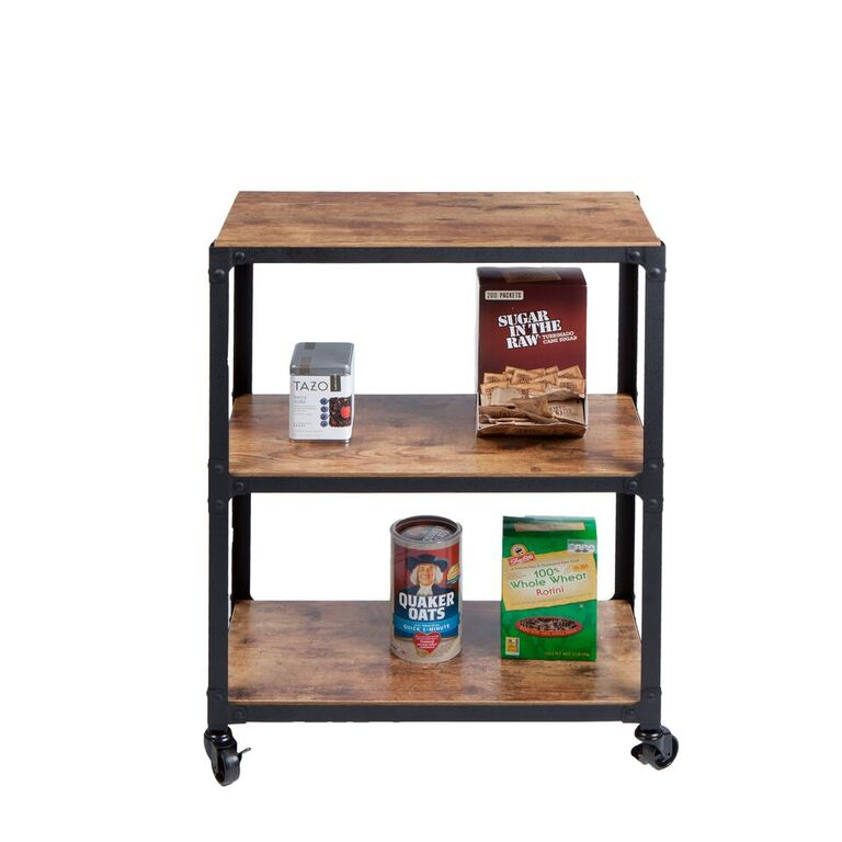 Mind Reader 3-Tier Wood Metal All Purpose Utility/ Bar Cart