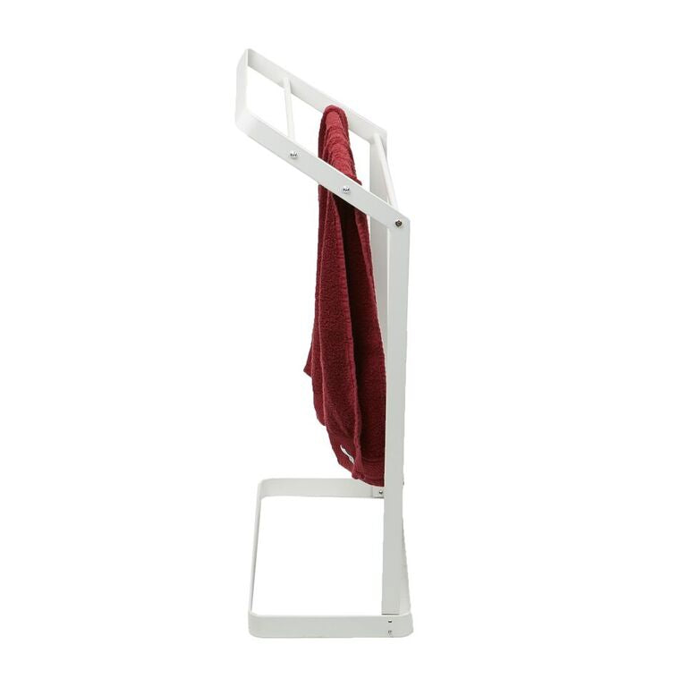 Mind Reader 3 Tier Bath Towel Bar Stand Alone Bathroom Rack, Drying Stand, Towel Valet Holder