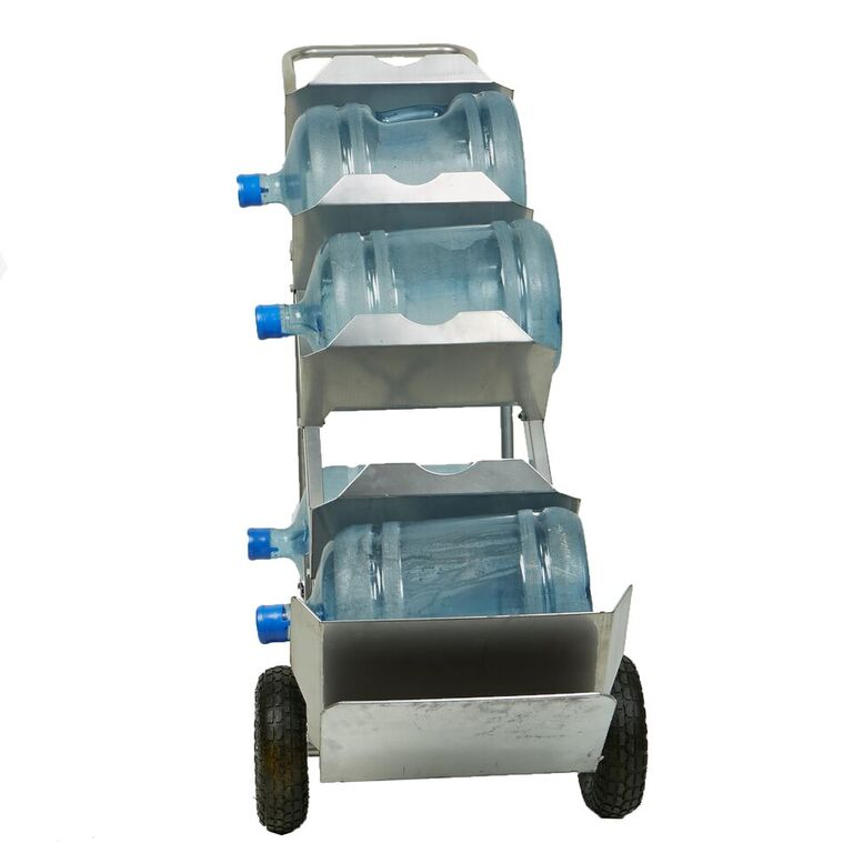Mind Reader Bottled Water Jug Hand Truck with Grip Handle