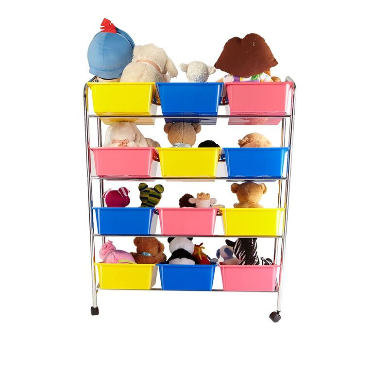 Mind Reader Toy Storage Organizer with 12 Storage Bins
